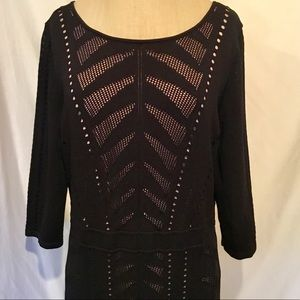 Calvin Klein Dress Knit Laser Cut Size XL